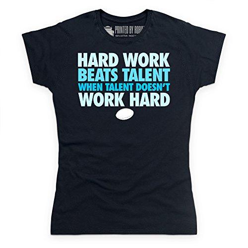 Hard Work T-Shirt, Damen Schwarz
