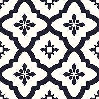 WallPops FP2480 Comet Peel and Stick - Juego de 10 azulejos para suelo, color negro