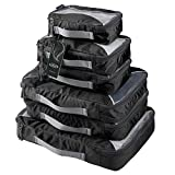 G4Free Packing Cubes Value Set for Travel – 6pcs (A-Black)