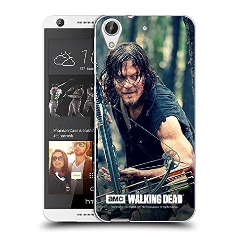 Officiel AMC The Walking Dead Action D'épier Daryl Dixon Étui Coque en Gel molle pour HTC Desire 626