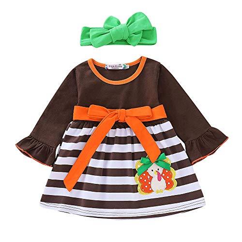 Baby Kind Boy Jungen Mädchen Cartoon Turkey Thanksgiving Striped Dress Outfits Set Weihnachten Sankt Schneemann-Kostüm Pyjamas Weihnachten