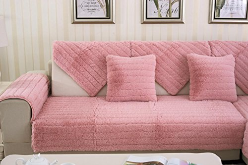 AISHUAIGE HZ Sofabezug plüsch Protector Sofa Kissen rutschfeste schutzhülle Weichen Couch Abdeckung Sofa Wohnmöbel, 90 * 180 -