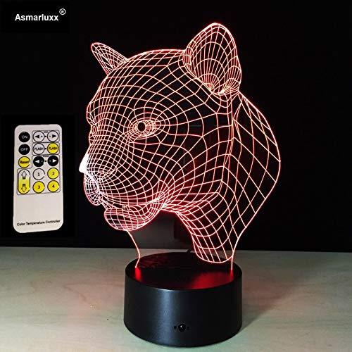 Leopard Kopf Sensor Licht intelligente kreative Geschenk visuelle Nachtlicht Fernbedienung Touch-Steuerung -