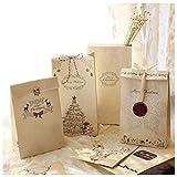 16 Stück Weihnachten Geschenktüten Mit Weihnachtsaufkleber Papiertüten Plätzchen Und Kekse Geschenkverpackung Tüten für Weihnachtsgeschenke