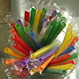 Casavidas Happy Sale 50pcs Multicolor Lange gerade Trinkhalme Home Bar Party Cocktail Drink Straw Home Decor Parrty Gift 915