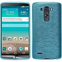 Funda de silicona para LG G3 - brushed azul - Cover PhoneNatic Cubierta + protector de pantalla