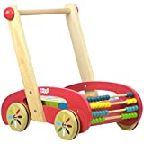 boppi® Wooden Walker with Alphabet & Number Blocks