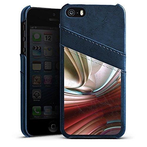 Apple iPhone 4 Housse Étui Silicone Coque Protection Chrome Chrome Chrome Étui en cuir bleu marine