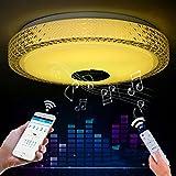 24W LED Deckenleuchte Deckenlampe Modern Rund Decken Lampe Integriertem Bluetooth Musik Lautsprecher und RGB Farbwechsel Kinderzimmer Schlafzimmer Wohnzimmer Leuchte Buntes Dimmen [Energieklasse A++]
