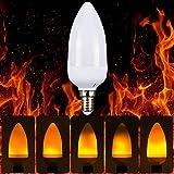 BLOOMWIN LED Flamme Lampe Flackerkerze E14 3W bewegliche Feuer Glühbirne Ersatzlampe 1500K Warmweiß 2PCS