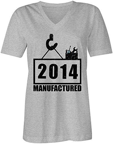 Manufactured 2014 VNeck TShirt FrauenDamen hochwertig bedruckt mit lustigem  Spruch Die perfekte GeschenkIdee 05 graumeliert