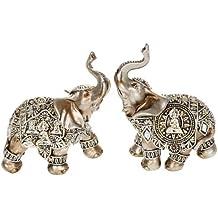 Kleine Plata Decorativa Buda figura de elefante (45621)