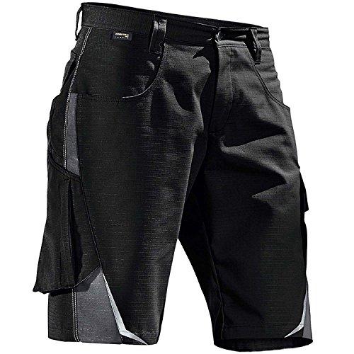 Kübler kurze Arbeitshose zweifarbig 2524, Farbe:schwarz/grau;Größe:54