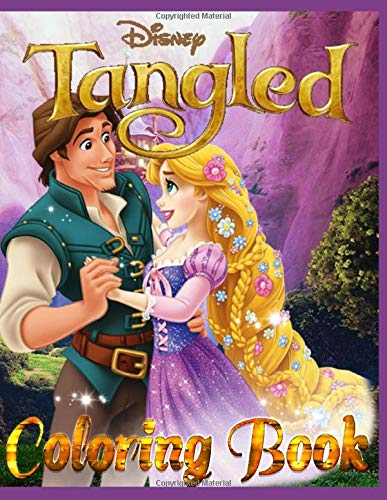 Disney Tangled: Coloring book: 40 great coloring pages for boys and girls
