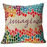 Elviros decorativa algodón Lino Mix almohada 45x 45cm
