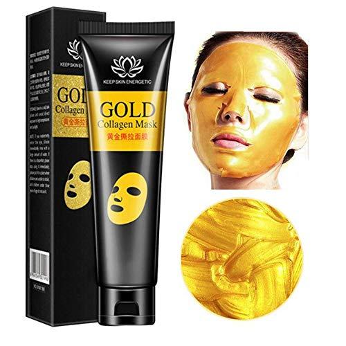 24 k Gold Maske Collagen Peel-off Gesichtsmaske Whitening Anti-Falten-Gesichtsmasken Hautpflege Facelifting Straffende Feuchtigkeitsspendende 60g - Straffende Peel