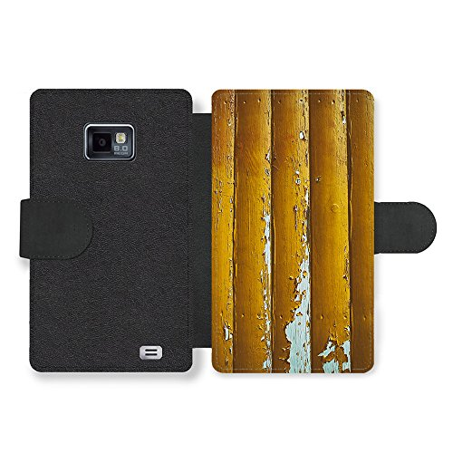 Distressed Faux Leather (Micro Gorilla Distressed Worn Out Gold Wood Effect New Pattern Style Faux Ledertasche Hülle fürSamsung Galaxy S2)