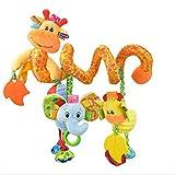 HENGSONG Baby Spirale Plüschtiere, Kleinkindspielzeug, Beschwichtigen Schlaf Spielzeug, Babyschale Kinderwagen Kinderbetten Hängen Baby Rasseln, Giraffe