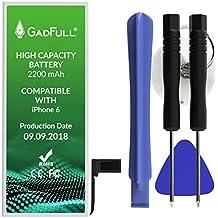 GadFull Batterie Haute capacité Compatible avec iPhone 6   2018 Date de Production   Kit d'outillage Manuel et Profi Set de réparation   Batterie de téléphone Portable supplémentaire