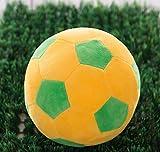 YOIL Cute Lovely Kuscheltier Weiche Simulation 22cm Fußball Plüschtier Puppe Kinder Geschenke (Gelb-Grüne Farbe)