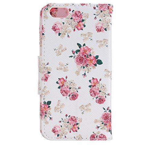 MOONCASE iPhone SE Coque, Printing Series Case Étui en Cuir Portefeuille Housse de Protection Etui à rabat Cover pour Apple iPhone 5 / 5S / iPhone SE BF11 BF20 #0401
