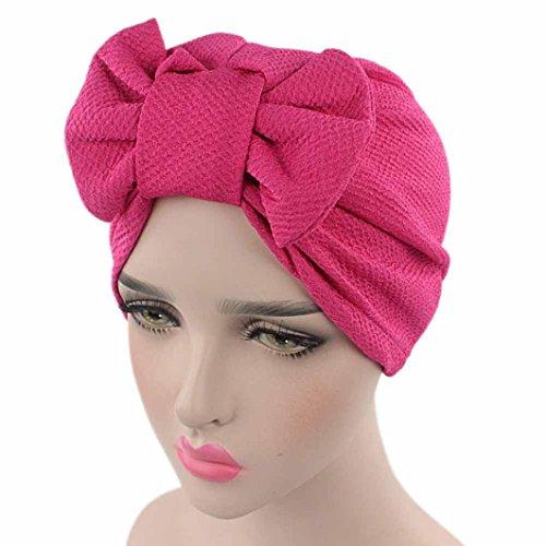 Cappello da Donna,Yanhoo con turbante ad Arco rosa caldo