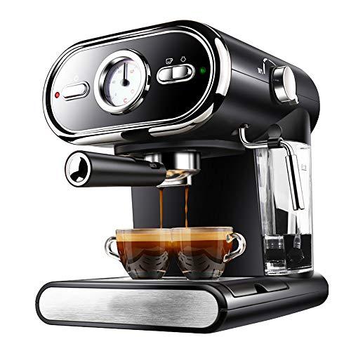 ZUZEN 20BAR Espresso-Maschine Halbautomatische Hausvisualisierung Volle Temperaturregelung Silber schwarz