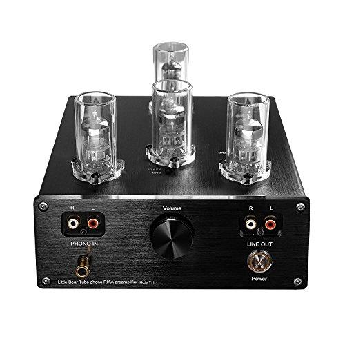 Nobsound Little Bear T11 6N2/12AX7 Vacuum&Valve Tube Phono Turntable Preamplifier; mm RIAA LP Vinyl Record Player Preamp; Stereo HiFi Audio Pre-Amplifier; Plattenspieler Vorverstärker