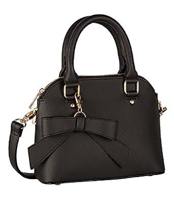 six basic damen handtasche schwarze kleine henkel. Black Bedroom Furniture Sets. Home Design Ideas