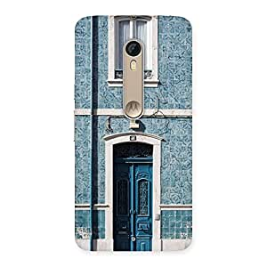 Neo World French Blue Aesthetic Door Back Case Cover for Motorola moto X style
