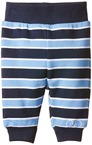 Twins Baby - Jungen Sweathose, geringelt, Gr. 50, Blau (marine 194024)