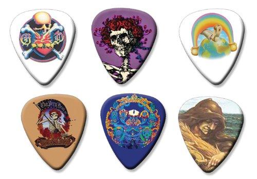 Grateful Dead Set of 6 Loose Gitarre Plektrum Plektron Picks ( Collection B ) (Gitarren Pick Grateful Dead)