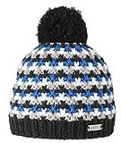 BARTS ANTHONY Pudelmütze schwarz/blau/weiß/grau, Skimütze gefüttert, Bommelmütze