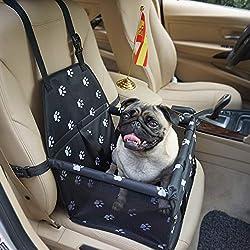 Felicidad Asiento del Coche de Seguridad para Mascotas Perro Gato Plegable Lavable Viaje Bolsas - se Adapta a pequeños Perros hasta 20 Libras(9KG)