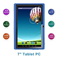 Haehne 7 Inch Tablet PC, Google Android 6.0 Quad Core, 1GB RAM 8GB ROM, Dual Camera, 1024x600 HD Screen, WiFi, Bluetooth, for Adult Kids
