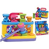 Pop Up Friends Hammer & Shape Sorter 2 in 1 Baby Toy - Suitable From 18 Months +