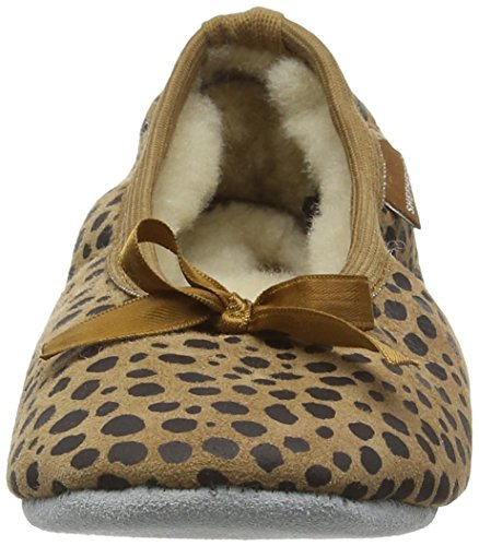 Shepherd Varberg Slipper, Chaussons mixte enfant Brown (Leopard 43)