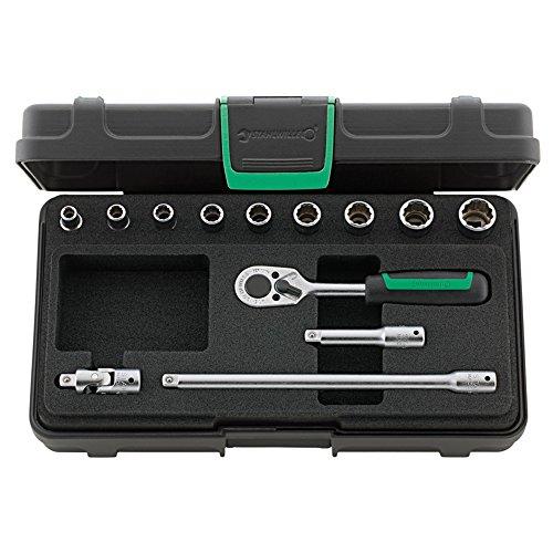 Acier volonté de douilles 13 pièces dans coffret robuste, plastique ABS empilables, 1 pièce, 96016302