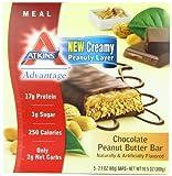 Atkins Advantage MEAL Chocolate Peanut Butter Bar, 5 Bars, 2.1 oz (60 g) Each
