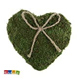 Cuscino Porta Fedi CUORE Green Muschio e spago eco Matrimonio Wedding Country Portafedi