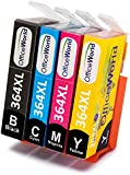 OfficeWorld Replacement for HP 364 364XL Ink Cartridges Compatible for HP Photosmart 5510 5511 5512 5514 5515 5520 5522 5524 6510 6520 6512 6515 7510 7520 7515 B8550 B8558 B110c B010a C5370 C5383 C5388 C6324 C6380 D5460 D7560 C310a C410a B209a B210a Deskjet 3070A