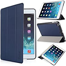iHarbort® Apple iPad Mini 3/ 2/ 1 Funda - ultra delgado ligero Smart Cover Funda de piel de cuerpo entero para Apple iPad mini 3/ 2/ 1, con la función del sueño / despierta, azul oscuro