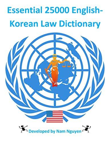 Essential 25000 English-Korean Law Dictionary Descargar Epub