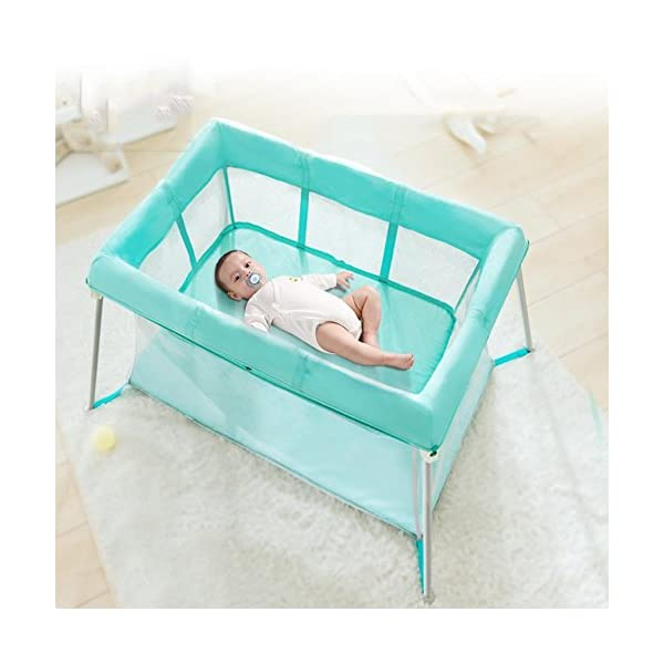 Baby HTTMYY Portable Folding Crib Children Multifunctional Double Layer Travel/Game Bed Baby Size:Game bed inner diameter:1020*600mm;Second floor bed inner diameter: 730*410mm;Folding Size: 600*520*180mm Style: Simplicity, Functions: Portable, foldable, Applicable crowd: 0-2 year old Hammock eccentric zipper design sleek without edges and corners to prevent the baby clip feet clip finger 1