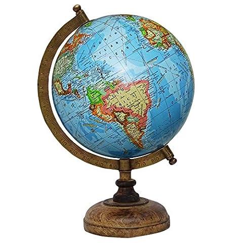 13 Decorative Rotating Globe Ocean World Géographie Blue Earth Home Decor