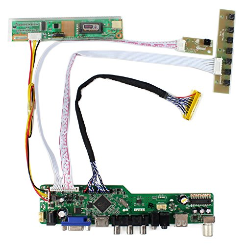 Scheda del controller LCD per ingresso HDMI + VGA + AV + USB + RF per CLAA154WP05 B170PW03 15,4 '' 17 '' 1440x900 pannello LCD 1CCFL 30Pins
