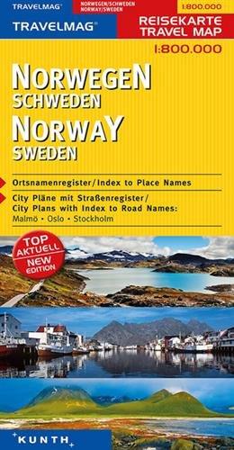KUNTH Reisekarte Norwegen, Schweden 1:800000: Alle Infos bei Amazon
