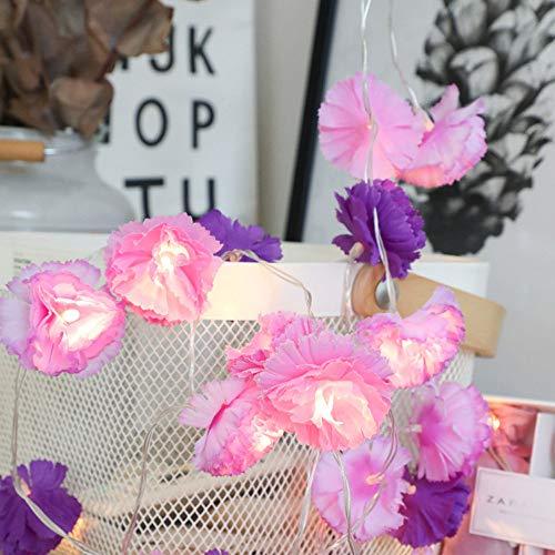 Wokee 10er LED Kleine Rosen Blume Licht Weihnachten Raumdekoration String Licht