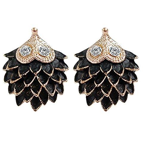 Womens Ear Studs,Clode® 1Pair Fashion Cute Ladies Girls Elegant Hedgehog Rhinestone Ear Studs for Wedding,Party,Holiday