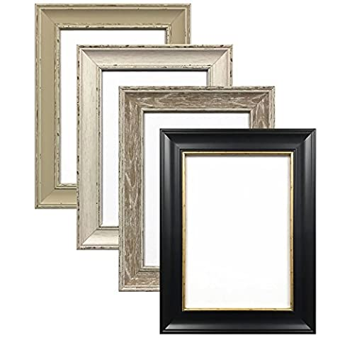 A3 WALNUT ( WASHED, WOOD GRAIN FINISH) SHABBY CHIC FRAMES LARGE SQUARE PICTURE PHOTO POSTER FRAME WOOD
